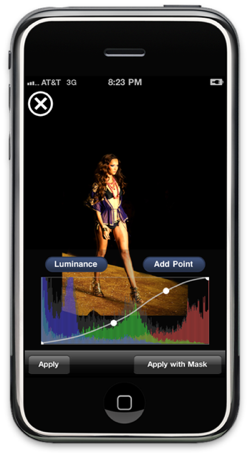 Filterstorm iPhone Runway Curves Image
